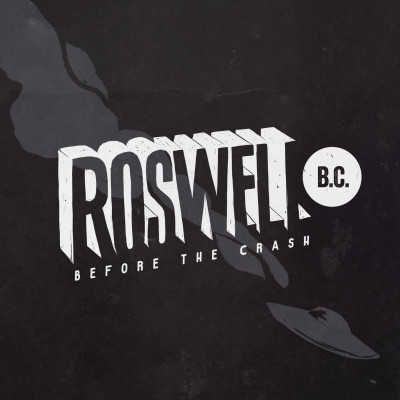 Roswell B.C. Logo (black  background with gray ship)