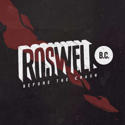Roswell B.C. Logo (black  background with red ship)