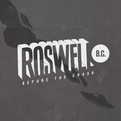Roswell B.C. Logo (gray  background with ship)