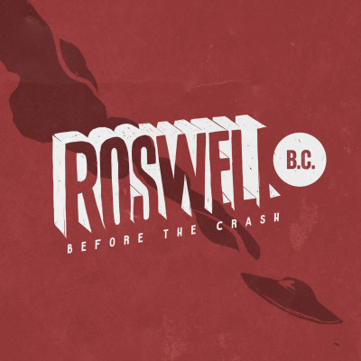 Roswell B.C. Logo (red  background with ship)